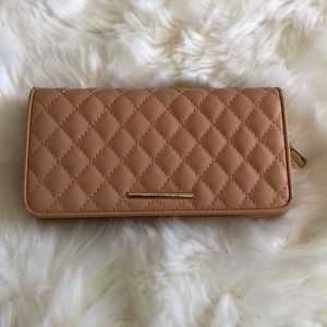 Tan Quilted Clutch